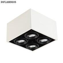 Модная белая черная сетка светодиодная решетка освещения 5 Вт/12 Вт MR16* 4 потолочный светильник без отверстий