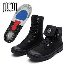 MUMUELI Added Insole Black Canvas 2019 Designer Casual Men Shoes High Top Quality Fashion Luxury Flat Brand Male Work Boots 1328(China)