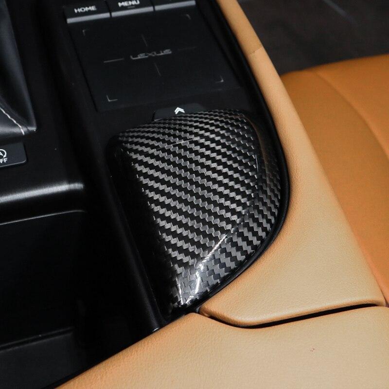 QHCP Del Cambio di Controllo del Pannello Pannello CD Scatola di Immagazzinaggio Della Copertura Supporto di Tazza di Acqua Adesivo In Fibra di Carbonio Fit Per Lexus ES200 260 300H 2018 - 4