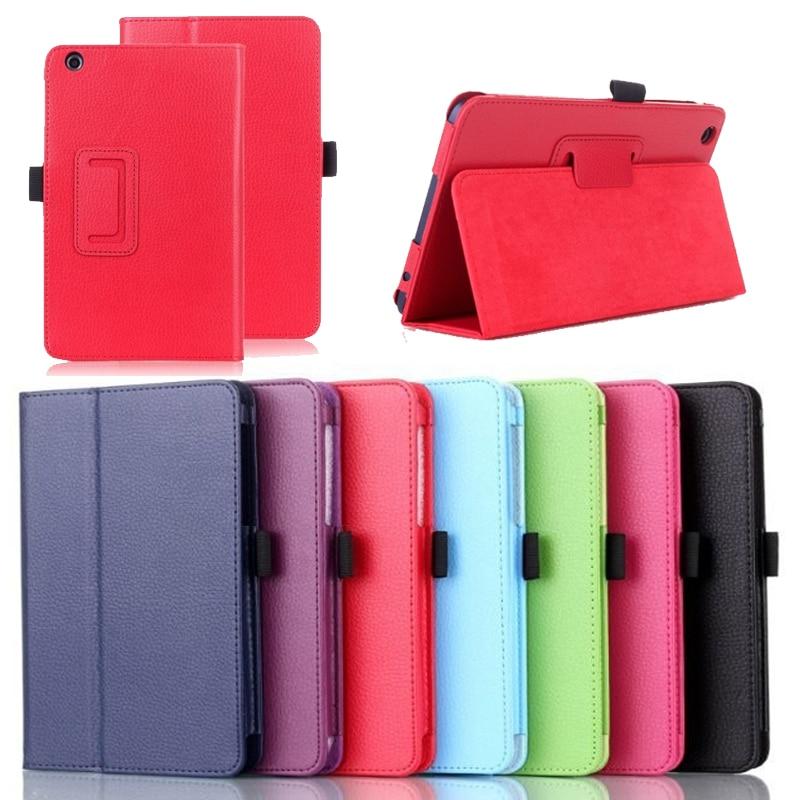 New Litchi Case For Lenovo A5500 Folio Book PU Bracket Stand Funda Case for Lenovo Tab A8 A5500 A8-50 5500 Tablet Case