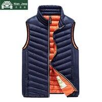 2018 New Spring Warm Vest Men Sleeveless Jacket Windproof Warm Waistcoat Male Slim Mens Vest chalecos para hombre Big Size M 3XL