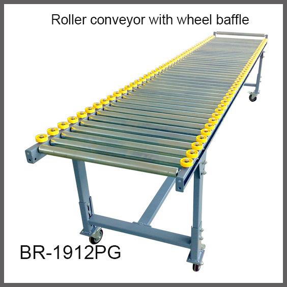 цены  Custom Made Gravity Steel Galvanized Roller Conveyor with wheels baffle Carton Roller Track