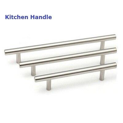 1 Piece 64mm/100mm Luxury Stainless Steel Kitchen Cabinet Drawer Handles  Pulls Knobs