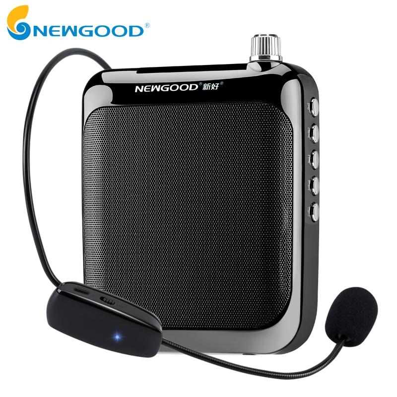 все цены на NEWGOOD Speaker Voice Amplifier Portable Megaphone Voice Amplifier Booster Megaphone With Bluetooth 4.1 For Teachers онлайн