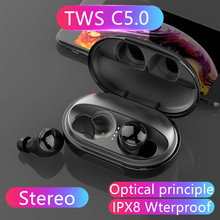 C5 TWS IPX8 Waterproof Mini HIFI Stereo sound Headset Touch Bluetooth V5.0 Earphones HD Wireless Noise Cancelling For Samsung(China)
