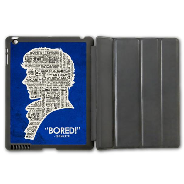 iPad 2 3 4/iPad 5 Air/iPad Mini Sherlock Holmes Protective Smart Cover Leather Case , Tablet Cartoon Pattern Design - Shenzhen YHOEM Trading Co.,Ltd store
