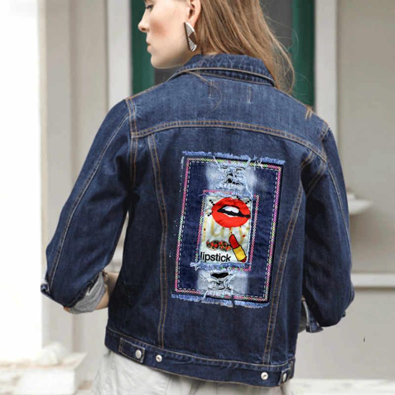 c472c3592987 Йод большой пришить аппликации DIY стиль бренда патчи для одежда джинсовая  куртка женские украшения накладки с