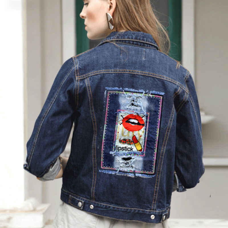JOD Punk Jeans Sew on Patch Embroidered  Brand Patches for T-Shirt Vintage Decoration DIY Printing Jackets Sewing