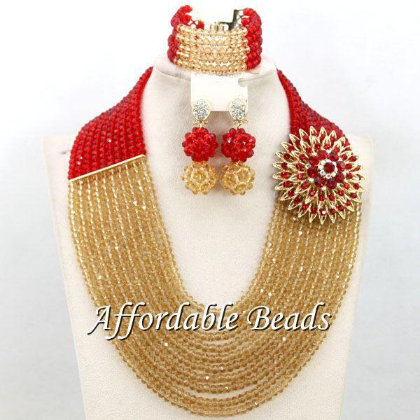 Fabulous Nigerian Beads Set Fashional African Jewelry Set Popular Style Wholesale Free Shipping BN552 yellow nigerian beads set popular african jewelry set popular style wholesale free shipping bn555