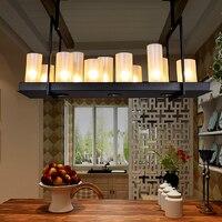 Гостиная led люстра обеденная Подвеска светильник спальня подвесной светильник деко освещение промышленного ретро подвесные светильники