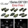 13pcs Error Free LED Bulb Interior Light Kit For Bmw 1 Series E87 E81 116i 118d