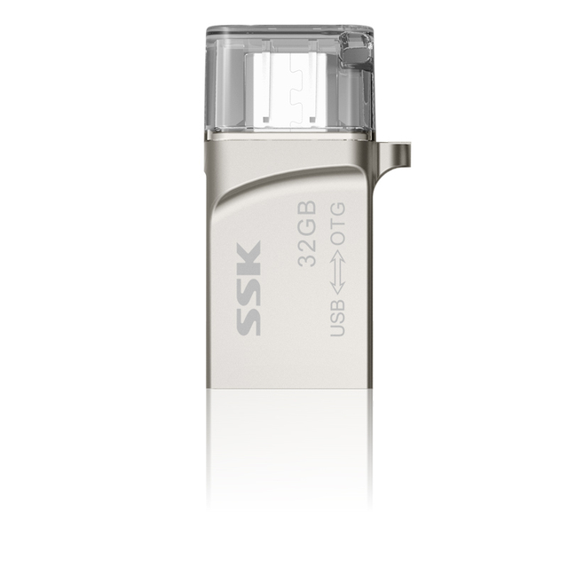 Sfd245 ssk otg smartphone usb 100% 32 gb usb flash drives pen drive micro usb memory stick usb del metal de almacenamiento portátil