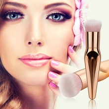 Fishtail Elegant Silver Metallic Makeup Brush Foundation Brush Blush Brush  Rayon brush plastic handle rose golden
