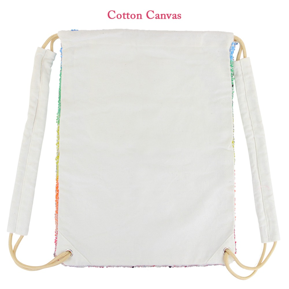 Unicorn Painting Drawstring Bag Sequins Mermaid Backpack Bag Magic Reversible Shoulder Bag Casual Party Supply Home Storage D15