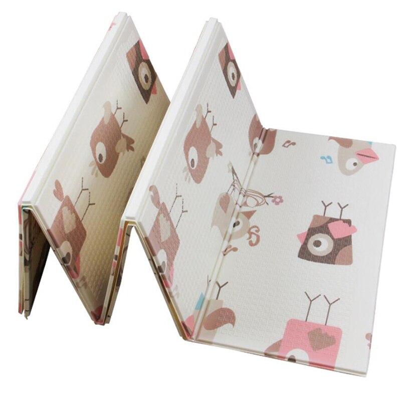Tapis de jeu bébé 1 CM d'épaisseur pliant Puzzle tapis de jeu Gym jeu PXE mousse tapis rampant pour enfants tapis enfants tapis dans les jouets de pépinière