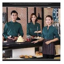 10 Set Baju   Apron Hotel Seragam Gaya Barat Makanan Pelayan Pakaian Kerja  Kafe Makanan Cepat Saji Restoran Pelayan Suit hot Pot. 499380ba9f