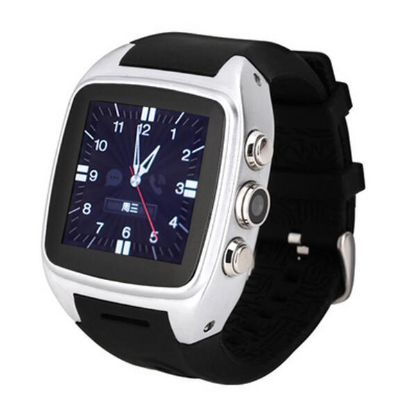 Prix pour Smart watch x01 android 5.1 1.5 pouce 2g/3g mtk6572 dual core 4 gb rom 5mp caméra podomètre de remise en forme tracker soutien sim carte