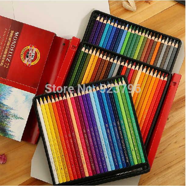Conjunto de dibujo de ko-i-noor Mondeluz Aquarell. 72 lápices de colores lápices de Color agua