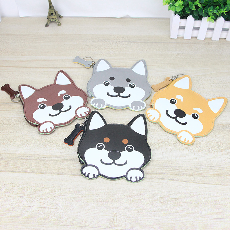 Katuner Cut Dog Mini Wallet Animal Shaped PU Leather Coin Purse Children Kids Coin Pouch Men Women Mini Purse For Key Card KB079 cute butterfly student coin purse chinese style children canvas zip change mini purse women wallet animal key card bag kids gift