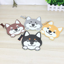 Katuner Cut Dog Mini Wallet Animal Shaped PU Leather Coin Purse Children Kids Coin Pouch Men Women Mini Purse For Key Card KB079(China)