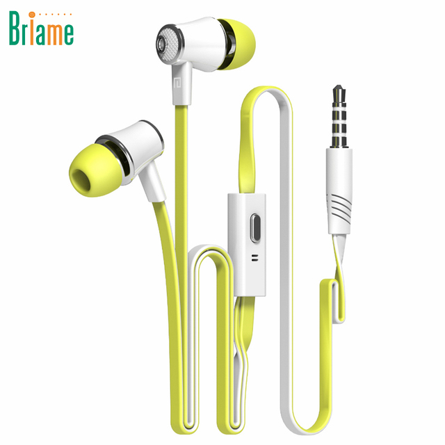 With Microphone for Samsung iPhone 5 5S 6 6S Xiaomi Huawei Briame In Ear Earphones Super Bass Portable Headset Sport Headphones