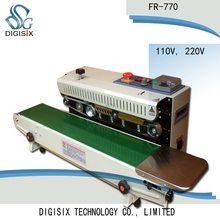 FR-770 Continuous film sealing machine plastic bag package horizontal heating