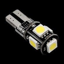 T10 5 SMD 5050 LED Canbus senza errori luci di parcheggio automatiche W5W 2825 501 168 5SMD lampadine laterali a cuneo per Auto lampade da lettura DC 12V