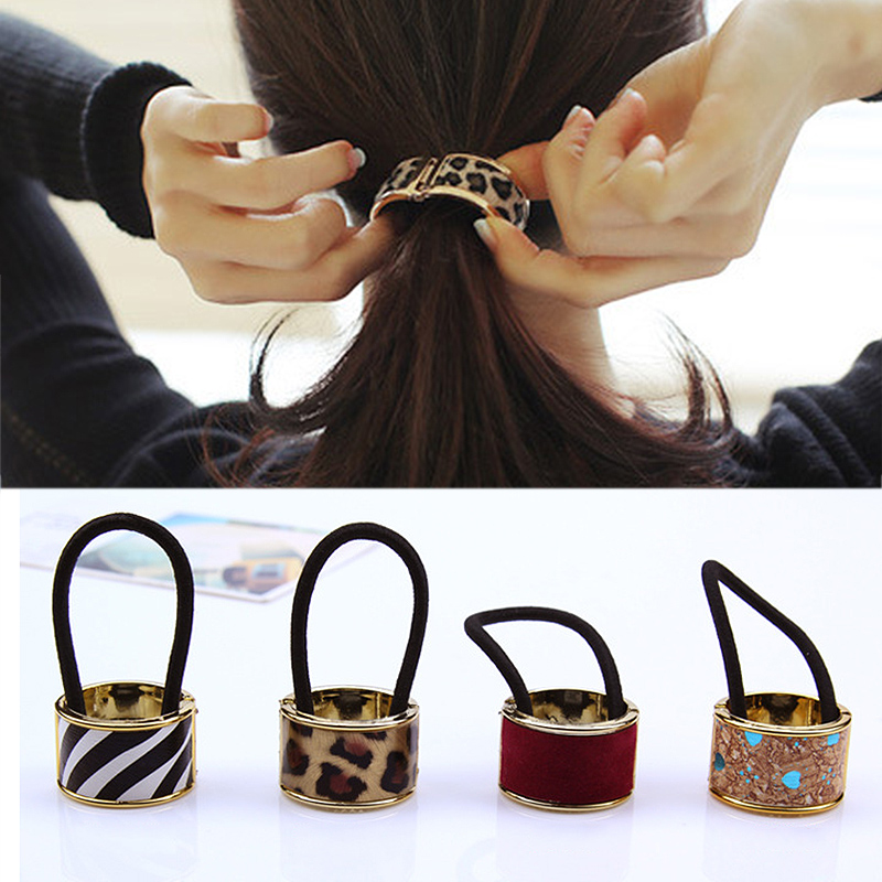 1pc Women Vintage U Shape Elastic Rubber Band Girls Steel Ring Headband Gum Hair Scrunchy Hair Rope Hair Accessories For Customers First Apparel Accessories