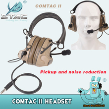 Z Tactical Comtac II Headset Airsoft Paintball Hunting Headset Style Active Noise Canceling Headphone Z041 NEW Color DE/BK цена 2017
