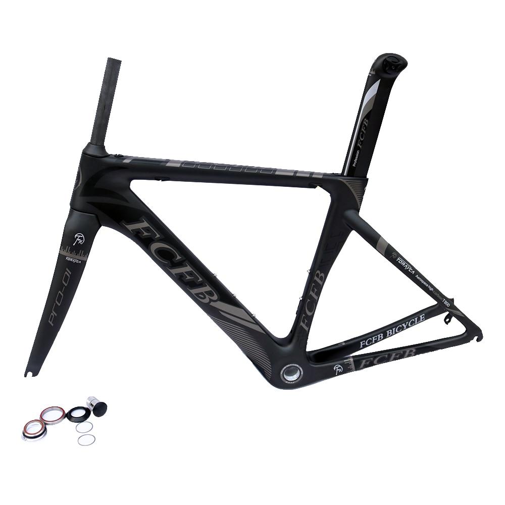 FCFB  carbon frame carbon road bike frame Carbon Road Bike Frame Di2 Mechanical 48cm/51cm/54cm/56cm frame fork  seatpost carbon road bike frame 2017 di2