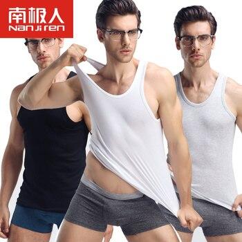 3 pçs/lote Undershirt dos homens Assentamento Camisa de Cor Sólida de Algodão Homens Casuais Camisa Top Fino Underwear Masculino Tanque Colete