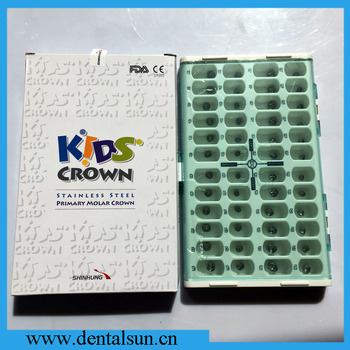 FDA/CE Approved SHINHUNG Stainless Steel Kids Crown/Dental Primary Molar Crown
