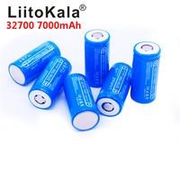 6 pcs LiitoKala 32700 cells lifepo4 7000 mah 3.2 V rechargeable battery with flat top LiFePO4 for flashlight 32700 battery 6500