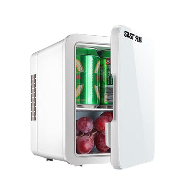 4L Car Mini Fridge Refrigerator Cooler Heater Auto Portable Freezer Refrigeration Icebox Household Low Noise Single Door цена и фото