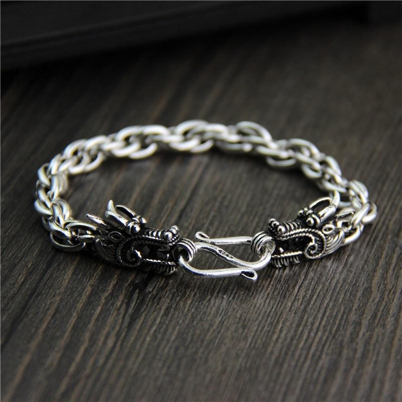 все цены на wholesale sterling silver bracelet Qi S925 leading men's and women's unique domineering retro Thai silver jewelry
