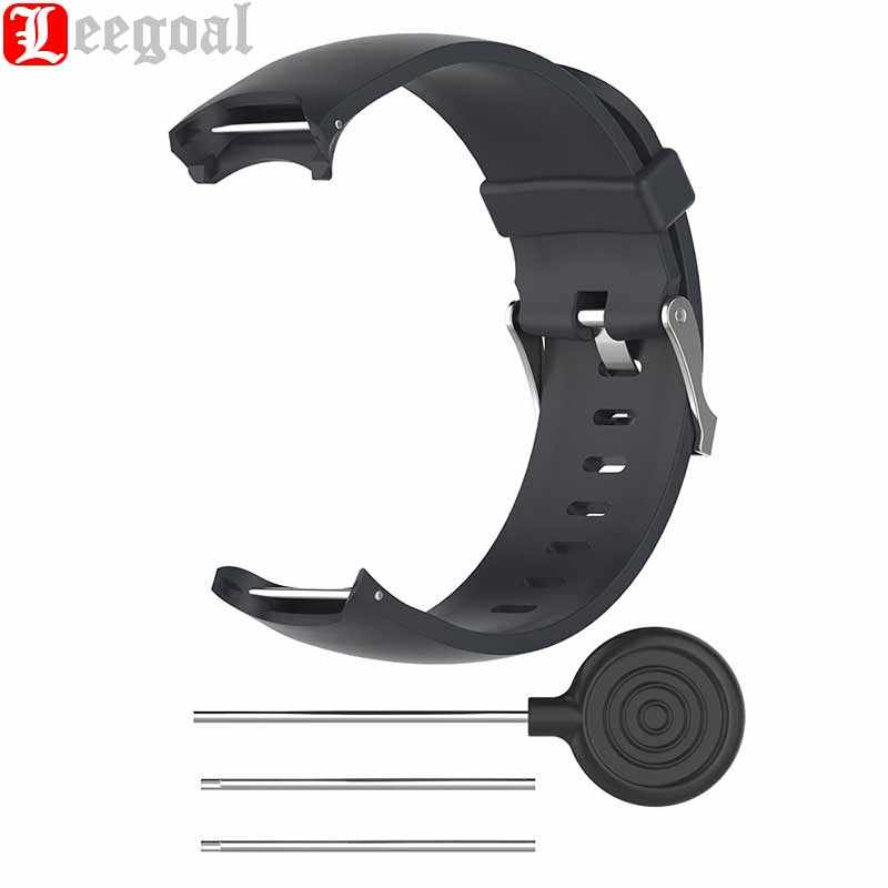 Leegoal Silicone Watch Strap for Garmin Approach S3 Touchscreen GPS Watch Replacement Watchband Soft Wristband Strap With Tool