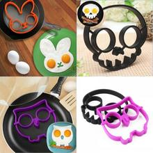 Omelette Mold Silicone Smile Face Rabbit Owl Shape Egg Fired DIY Breakfast Pancake Cooker Home Kitchen Gadget Tools