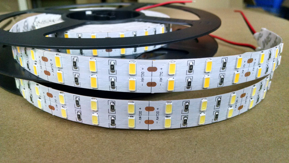 Free Shipping SMD5630 double line <font><b>led</b></font> strip 120leds/meter dc12v dc24v 36w/m warm white natural white cold white IP20 IP65 IP68