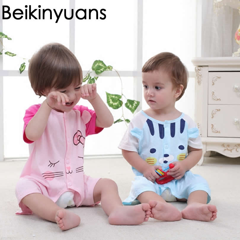 Baby Boy Rompers Cute Cotton Summer Jumpsuits Roupas Bebes Cartoon Newborn Baby Skirt Clothes Infant Girls Conjoined Clothing baby boys rompers infant jumpsuits mickey baby clothes summer short sleeve cotton kids overalls newborn baby girls clothing