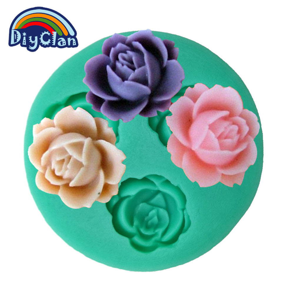 Új szilikon szép virágcsokoládé öntőformák öntőformák szilikon para confeitaria torta díszítő sütés F0017HM35