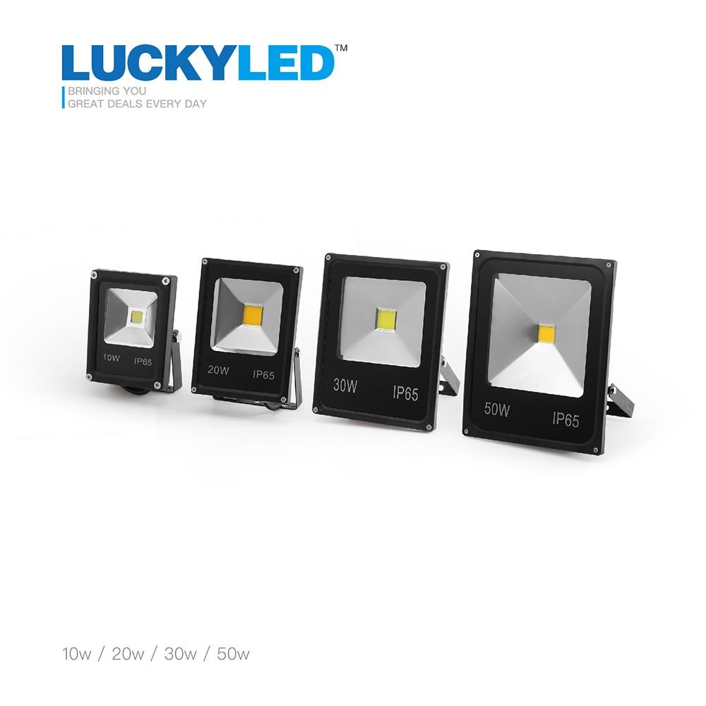 ultrathin LED flood light 10W 20W 30W 50W Black AC85-265V waterproof IP65 Floodlight Spotlight Outdoor Lighting Freeshipping