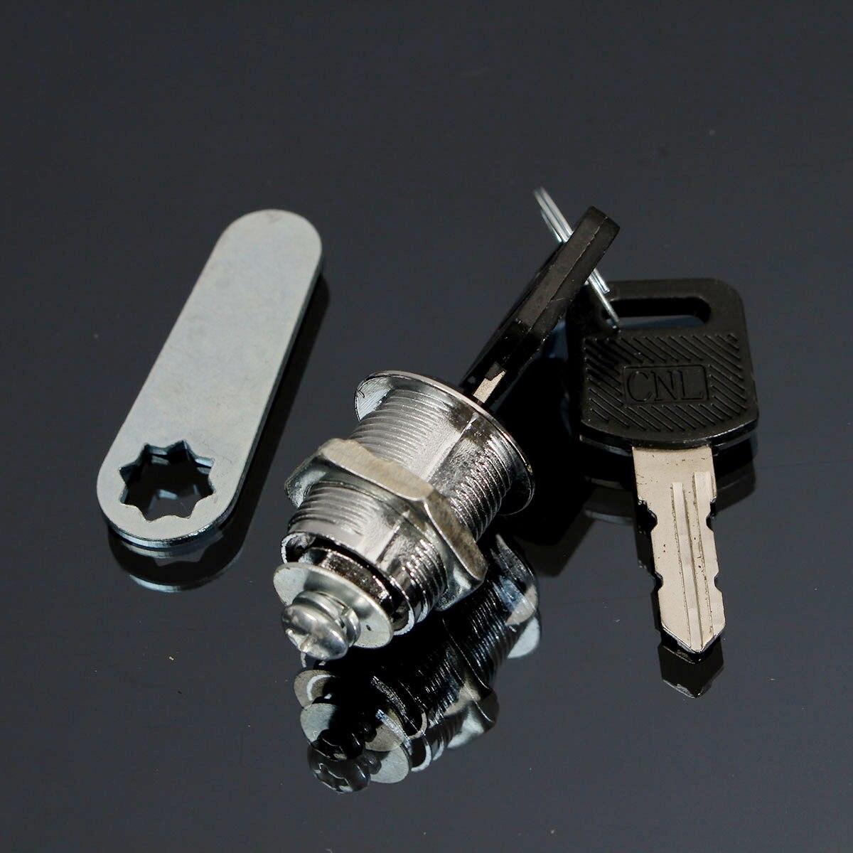Cam Lock Office Door Cabinet Locker Letter Box Drawer Cupboard Wardrobe Focer Safety Home Lock With 2 Keys 16mm 20mm 25mm 30mm