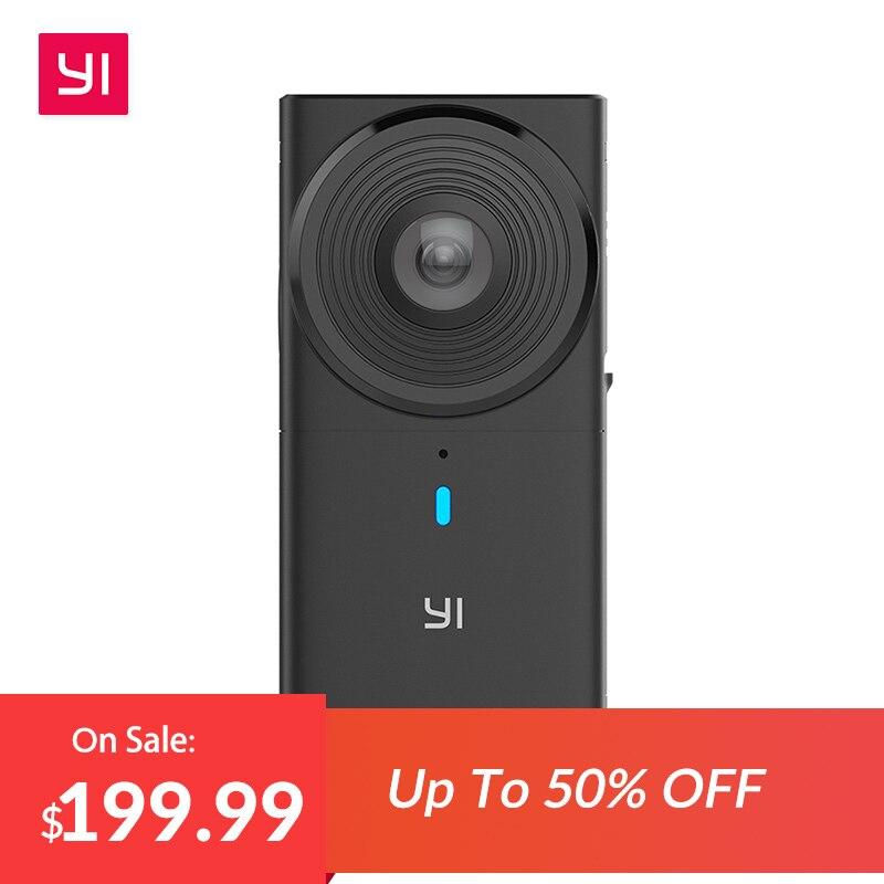 YI 360 VR caméra double objectif 5.7 K caméra panoramique haute résolution avec stabilisation électronique de l'image, coutures intégrées 4 K