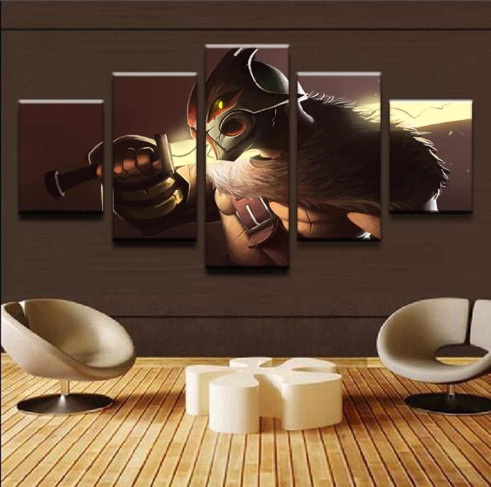 HD печать 5 шт. DOTA 2 Juggernaut холст настенная живопись плакат Современный домашний декор настенное искусство PT1511
