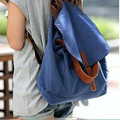 2016 New Special Offer Women Backpack Solid Colour Canvas Schoolbag Vintage Preppy Style Shoulder Bag
