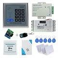 RFID дверь контроля доступа замок система комплект с электрическим болтом замок RFID Клавиатура дверной звонок для дома 500 пользователя EM ключ ...