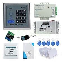 RFID erişim kontrollü kapı kilidi Sistemi Seti seti ile Elektrikli Cıvata Kilit RFID Tuş Takımı kapı zili ev için 500 kullanıcı EM Anahtar kartları