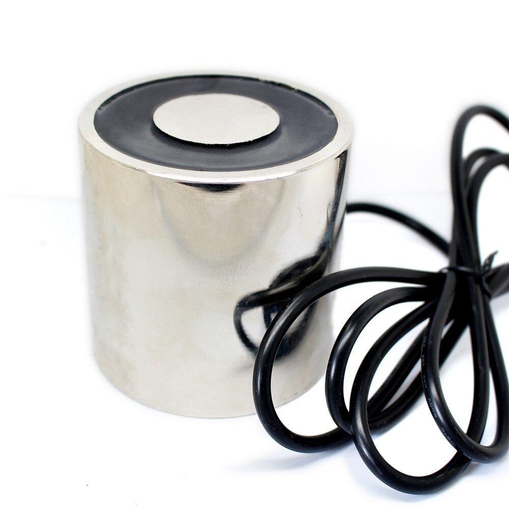 80*80mm grande aspiration 200 KG DC 5 V/12 V/24 V grand électroaimant électroaimant de levage électrique électro aimant fort support tasse bricolage 12 v
