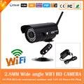 2.0mp hd wifi ip bala câmera ângulo de 90 graus sem fio à prova d' água ao ar livre do cctv webcam motion detect freeshipping cmos onvif