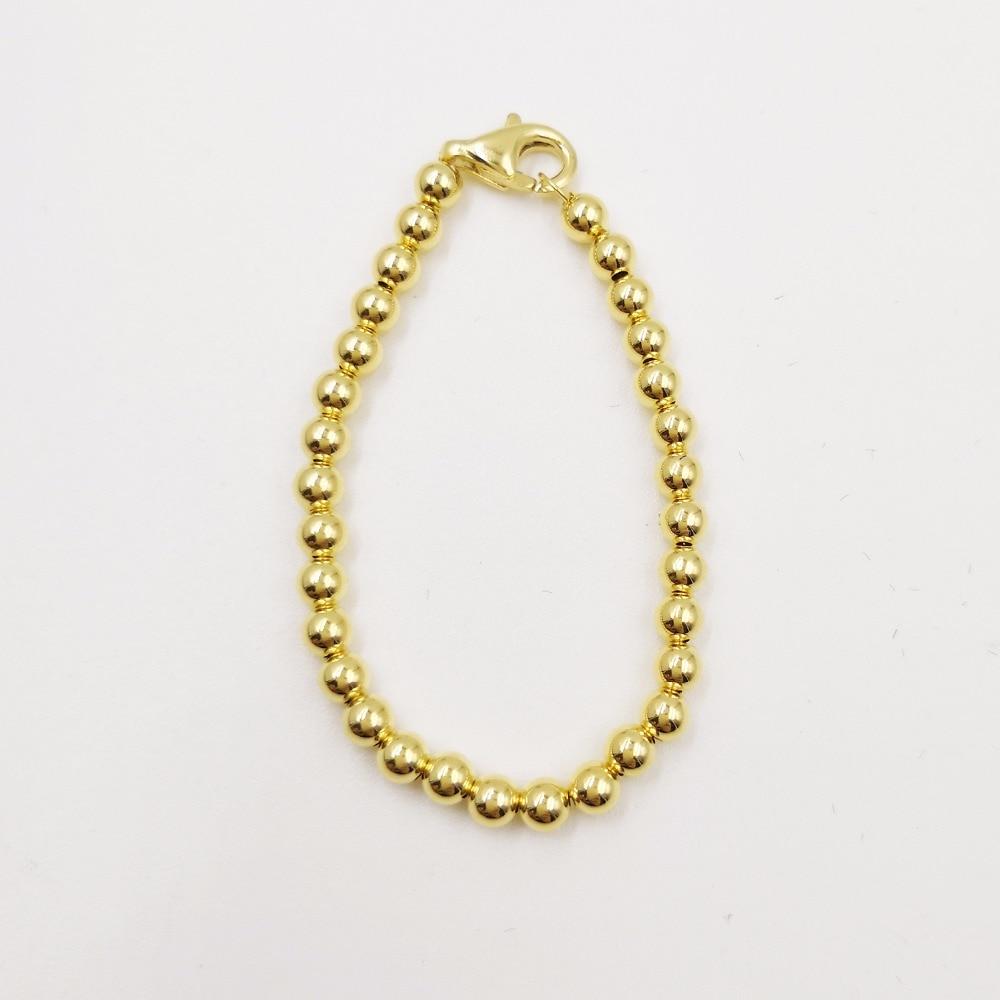 18k yellow gold or rose gold bead strand bracelet for new baby girls womens trandy bracelet for career women цена 2017